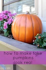 Fake Carvable Foam Pumpkins by How To Make Fake Pumpkins Look Real