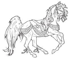 Popular Carousel Coloring Pages Best Book Ideas