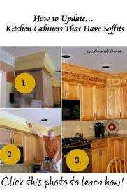 Pinterest Kitchen Soffit Ideas by Before And After Unsightly Kitchen Soffits Kitchen Soffit 70s