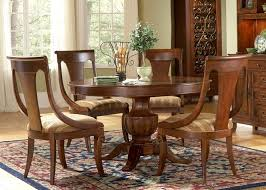 cotswold manor oval table 5 piece dining set in medium brown
