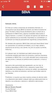 La Carta Que Envió BBVA Chile A Sus Clientes Por La Compra De