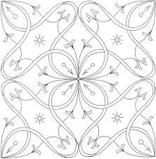 Realistic Flower Coloring Pages 6 Adult Flowers