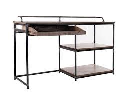 bureau industriel metal bois grand bureau industriel en bois robuste et métal vical home