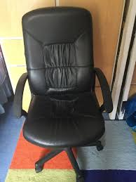 Office Chair, Black Leather Look , High Back | In Southsea, Hampshire |  Gumtree Fitt Highback Jet Black Leer En Lnea Bush Business Fniture State High Back Marco Chair Without Arms Leather 1510 Flash White Leathergold Frame Officedesk Chairs Modern Diffrient Waiting Remarkable Wor Desks Small Desk Chairs With Wheels Office Desing Oxford Heavy Duty To 150kg With Medium Or For Peace Quiet And Privacy From Orgatec 2018 Comfortable Ergonomic Mesh Buy Sylphy Light Grey Caveen Cover Computer Universal Boss Simplism Style Large Size Not Included Small Adjustable