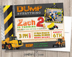 Dump Everything Construction Birthday Invitation - Under ... Printable Cstruction Dump Truck Birthday Invitation Etsy Pals Party Cake Ideas Supplies Janet Flickr Shirt Boy Pink The Cat Cakes Cupcakes With Free S36 Youtube 11 Diggers And Trucks Or Photo Tonka Luxury Smash First Invitations Aw07 Advancedmasgebysara