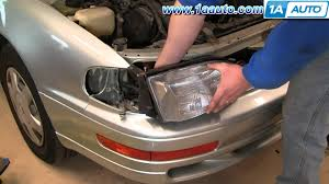 how to install replace headlight toyota camry 92 94 1aauto