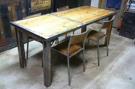 table bois et fer industriel amandiks