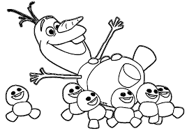 Olaf And Snowgies Coloring Pages Elsa Anna