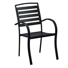 Amazon.com : Oakland Living AZ720-CHAIR-BK Modern Outdoor Dining ... Cult Living Ladbroke Outdoor Ding Armchair Black Polywood Tek Memoir Chair Rjid Midcentury Modern Steel Patio Set Summer Classics Skye Side White Leather Chairs Contemporary Script 5piece Metal With Slatted Faux Wood And Stackable Modway On Sale Eei2259slvblk Shore Alinum Only Only 16930 At Fniture Warehouse Polywood Bayline Satin Allweather Plasticsling Arm In Poolside Shell Shell Collection Fueradentro Design Wicker