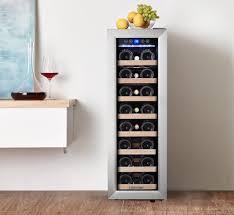 kalamera weinkühlschrank 21 flaschen 75 liter kompressionskühler eine zonen freistehend krc 75ass