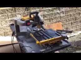 Dewalt Tile Cutter D24000 by Dewalt 24000 Tile Saw Review Youtube
