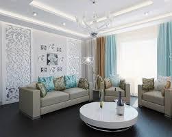 Grey Yellow And Turquoise Living Room by Half Turquoise Living Room With Wide Wall Mirror Over Fireplace