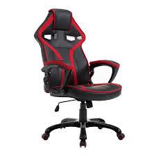 fauteil bureau homcom fauteuil bureau gaming sport ergonomique hauteur réglable