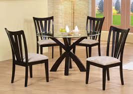 Shoemaker Deep Merlot Dining Table W 4 Side Chairs