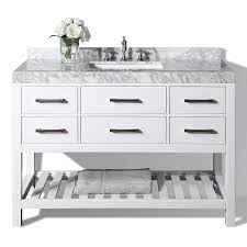 48 Cabinet With Drawers by Shop Ancerre Designs Elizabeth White Undermount Single Sink
