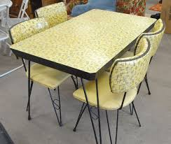 Retro Metal Table And Chairs Chair Design Kitchen Making Vintage Interior Decor Home
