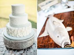 Rustic Wedding Cake Rosettes Bling Rhinestone Ribbon Drag Design Lake House