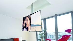 support tv au plafond tv lift ceiling hinge descent and sviwel solution flip 900
