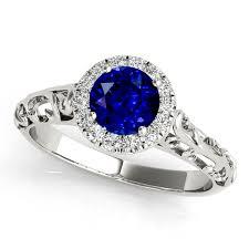 Unique Vintage Style Sapphire Engagement Ring