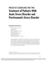 practice guideline for the treatment of patients with acute stress