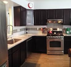 Premier Cabinet Refacing Tampa by My Kitchen Remodel 2015 Dark Cabinets Moon White Granite Glass