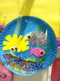 Paper Plate Aquarium Summercamp My Crafts Pinterest