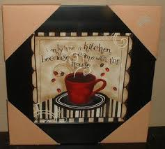 Coffee Cup Framed Art Picturewall Plaquejava Cafe Kitchen Decorred Jewelsnew