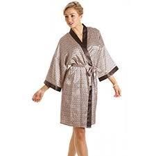 robe de chambre en robe de chambre en satin pour femme imprimé tailles 36 à
