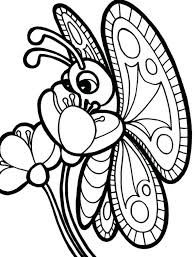 Coloring Pages Of A Butterfly Flower On Animal
