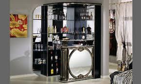 details zu eckbar theke wohnzimmer bar spiegel front hochglanz schwarz italienische möbel