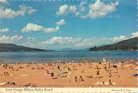 100 Million Dollar Beach LAKE GEORGE MILLION DOLLAR BEACH NY NEW YORK POSTCARD HipPostcard