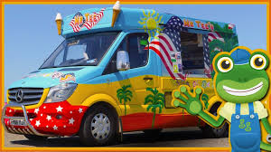 Ice Cream Truck For Children | Gecko's Real Vehicles - YouTube