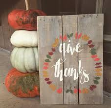 Fall Pallet Sign Give Thanks
