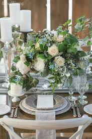 Rustic Table Setting With Greenery Centrepiece