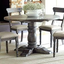 Elegant Dining Table Rustic Grey Room Set Oak Wood Gray Round