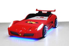 chambre voiture garcon lit voiture pour enfant eclairage led avec sommier 90x190