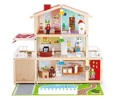 Hape Wooden Doll House - Doll Family Mansion