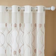 vorhänge hxb braun topfinel voile vorhänge mit stickerei