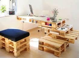 palette bureau création de meuble en palette