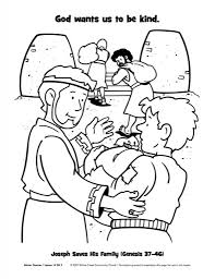Source Coloringhome Joseph And His Brothers Coloring Page Forgives With Regard To