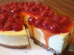 White Chocolate Cheesecake with Cherry Topping Recipe