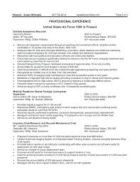 Government Resume Template Federal Example Australian