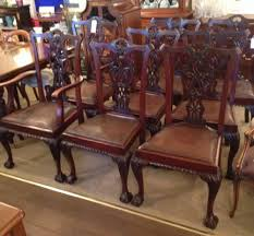 Antique Set Of Eight Chippendale Style Mahogany Dining Chairs Circa ... Tiger Oak Fniture Antique 1900 S Tiger Oak Round Pedestal With Ding Chairs French Gothic Set 6 Wood Leather 4 Victorian Pressed Spindle Back Circa Room 1900s For Sale At Pamono Antique Ding Chairs Of Eight Chippendale Style Mahogany 10 Arts Crafts Seats C1900 Glagow Antiques Atlas Edwardian Queen Anne Revival Table 8 Early Sets 001940s Extendable With Ball Claw Feet Idenfication Guide
