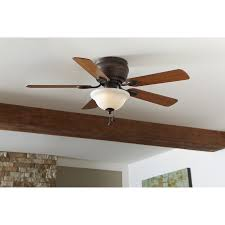 Hunter Contempo Ceiling Fan Canada by Shop Harbor Breeze Mayfield 44 In Antique Bronze Flush Mount