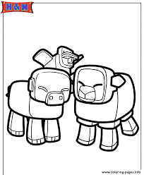 Minecraft Animals Coloring Pages Print Download 434 Prints