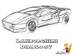 Lamborghini Diablo SV Car Print Outs 3 4 View At YesColoring