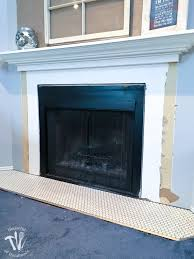 remodel update tiling the fireplace hearth a houseful of handmade