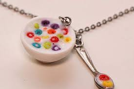 Cereal Fruit Loops Coco Pops Necklace Bowl Food