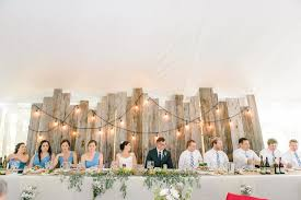 Head Table And Backdrop Wedding Shabby Chic Rustic Charm Noun Management