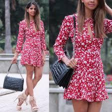 red floral dress for spring suma u0027s lookbook